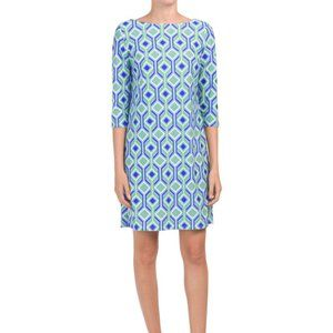 Jude Connally NWT Marlowe Blue Geometric Dress